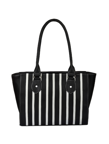 black leatherette regular handbag - 15021118 - Standard Image - 1