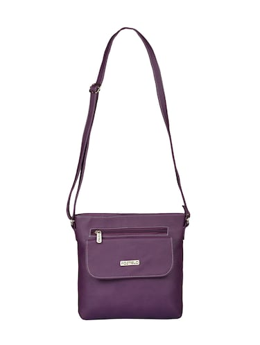 purple leatherette  regular sling bag - 15021149 - Standard Image - 1
