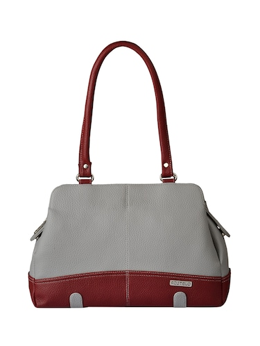 grey leatherette  regular handbag - 15021156 - Standard Image - 1