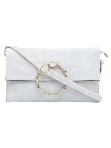 white leatherette  regular sling bag - 15021653 - Standard Image - 1