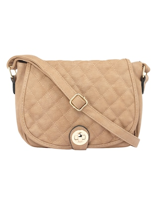 beige leatherette  regular sling bag - 15021681 - Standard Image - 1