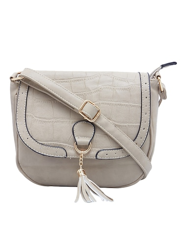 beige leatherette  regular sling bag - 15021685 - Standard Image - 1