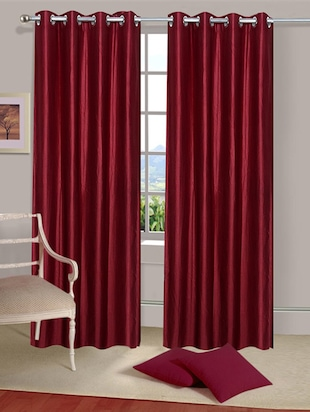 Set of 2 Polyester Long Door Curtains - 15023022 - Standard Image - 1