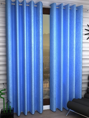 Set of 2 Polyester Long Door Curtains - 15023027 - Standard Image - 1