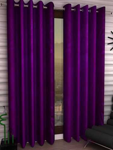 Set of 2 Polyester Long Door Curtains - 15023028 - Standard Image - 1