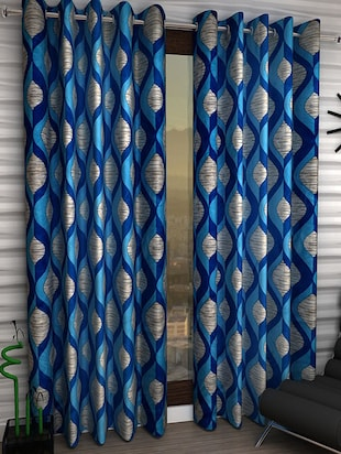 Set of 2 Polyester Long Door Curtains - 15023037 - Standard Image - 1