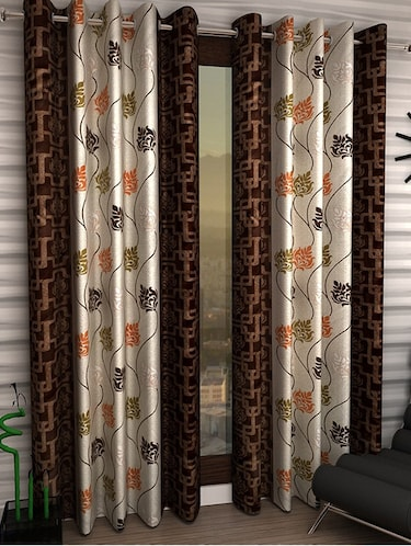 Set of 2 Polyester Long Door Curtains - 15023092 - Standard Image - 1