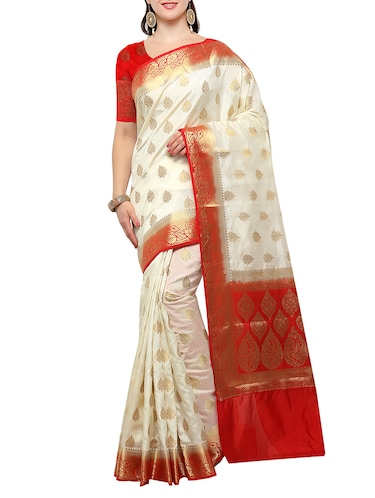 banarasi silk saree with blouse - 15023145 - Standard Image - 1