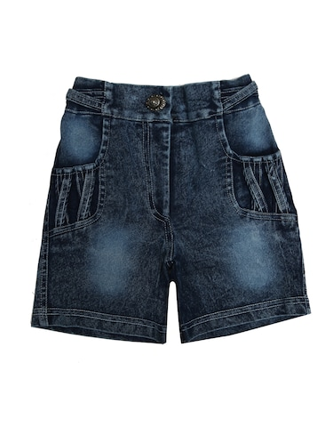 blue denim shorts - 15023717 - Standard Image - 1