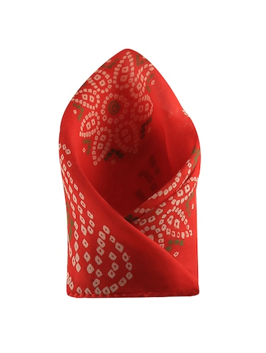 red silk pocketsquare - 15023994 - Standard Image - 1