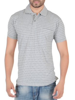 grey cotton pocket t-shirt - 15024340 - Standard Image - 1