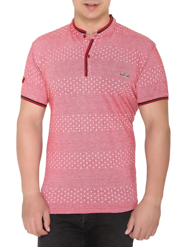 pink cotton all over print tshirt - 15025182 - Standard Image - 1