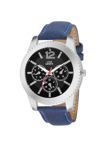 LOUIS GENEVE Black Dial Watch For Men - LG-MW-51-BLUE-203 - 15025594 - Standard Image - 1