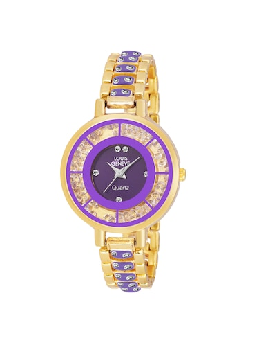 LOUIS GENEVE Purple Dial Watch For Women - LG-LW-SS-PGOLD-105 - 15025738 - Standard Image - 1