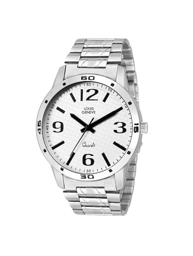 LOUIS GENEVE White Dial Watch For Men - LG-MW-SS-WHITE-220 - 15025772 - Standard Image - 1