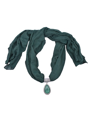 green cotton scarf - 15025805 - Standard Image - 1