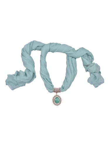 green cotton scarf - 15025817 - Standard Image - 1