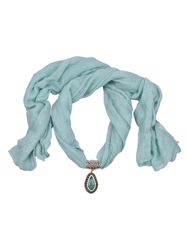 green cotton scarf - 15025832 - Standard Image - 1