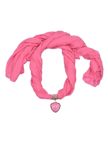 pink cotton scarf - 15025849 - Standard Image - 1