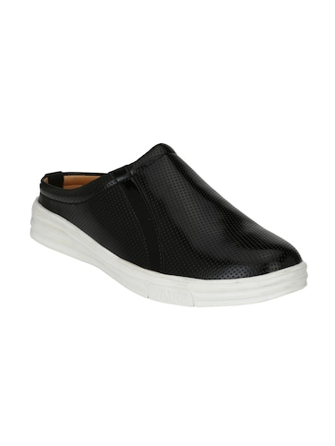 black Leatherette casual slipon - 15025988 - Standard Image - 1
