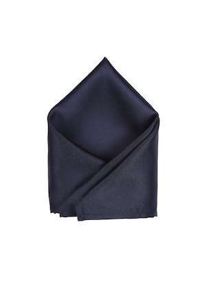 navy blue polyester pocketsquare - 15025992 - Standard Image - 1