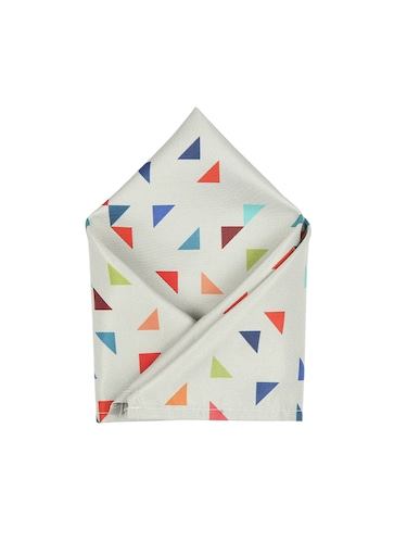 white polyester pocketsquare - 15025999 - Standard Image - 1