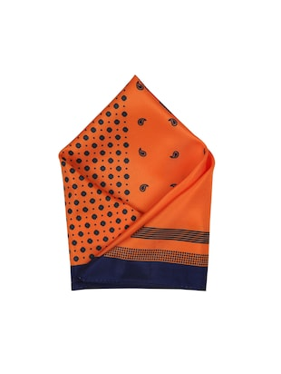 orange polyester pocketsquare - 15026009 - Standard Image - 1