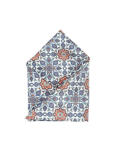 blue polyester pocketsquare - 15026010 - Standard Image - 1