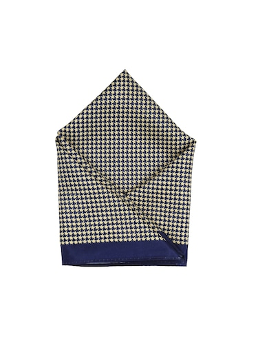 blue polyester pocketsquare - 15026012 - Standard Image - 1
