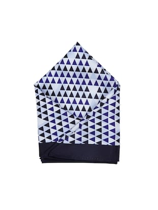 blue polyester pocketsquare - 15026016 - Standard Image - 1