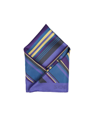 blue polyester pocketsquare - 15026017 - Standard Image - 1