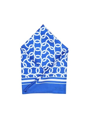 blue polyester pocketsquare - 15026020 - Standard Image - 1