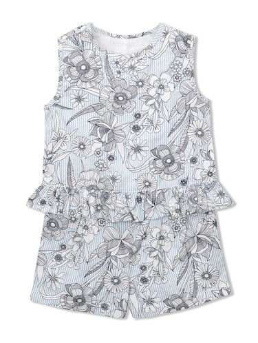 blue cotton playsuit - 15026263 - Standard Image - 1