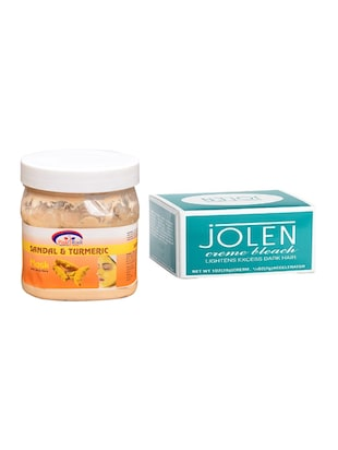 JOLEN Creme Bleach and Pink Root Sandal & Turmeric Mask 500ml - 15026513 - Standard Image - 1