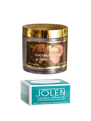 JOLEN Creme Bleach and Pink Root Coconut Scrub 100gm - 15026539 - Standard Image - 1