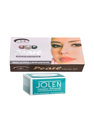 JOLEN Creme Bleach and Pink Root Pearl Facial Kit 83g - 15026546 - Standard Image - 1