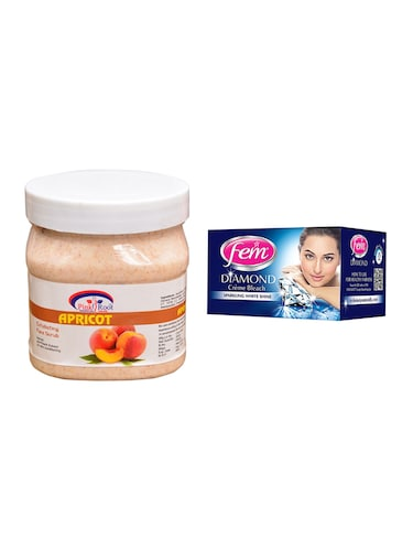 Fem Diamond Bleach, Pink Root Apricot Scrub 500ml - 15026597 - Standard Image - 1