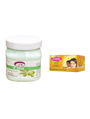 Fem Gold Bleach, Pink Root d'Olive Massage Cream 500ml - 15026620 - Standard Image - 1