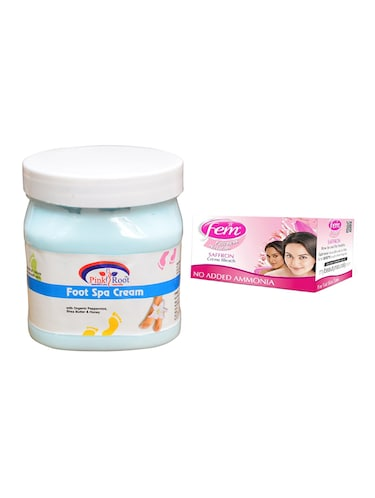 Fem Saffron Bleach, Pink Root Foot Spa Cream 500ml - 15026654 - Standard Image - 1