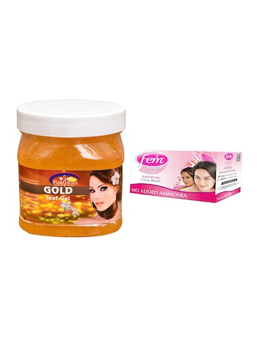 Fem Saffron Bleach, Pink Root Gold Leaf Gel 500ml - 15026658 - Standard Image - 1