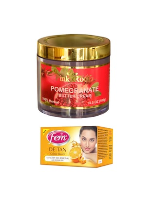 FEM De-Tan Crme Bleach 30g and Pink Root Pomegranate Butter Cream 100gm - 15026697 - Standard Image - 1