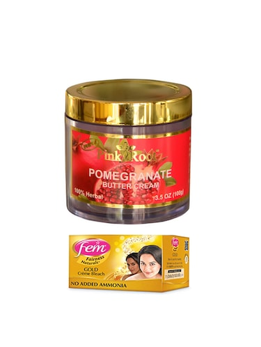 FEM Gold Cr?me Bleach 30g and Pink Root Pomegranate Butter Cream 100gm - 15026719 - Standard Image - 1