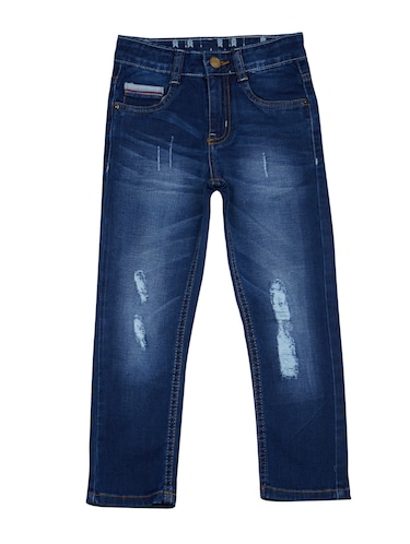 dark blue denim ripped jeans - 15029396 - Standard Image - 1