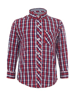 red cotton shirt - 15029718 - Standard Image - 1