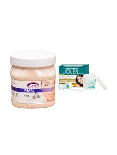 JOLEN Gold Bleach Cr?me 18g and Pink Root Pearl Scrub 500ml - 15030010 - Standard Image - 1