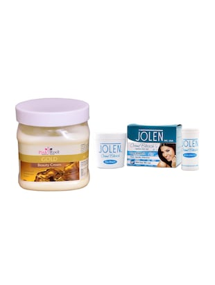 JOLEN Oxy Bleach Crme 35g and Pink Root Gold Leaf Gel 500ml - 15030090 - Standard Image - 1