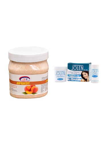 JOLEN Oxy Bleach Cr?me 35g and Pink Root Apricot Scrub 500ml - 15030095 - Standard Image - 1