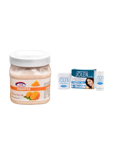 JOLEN Oxy Bleach Cr?me 35g and Pink Root Orange Scrub 500ml - 15030104 - Standard Image - 1