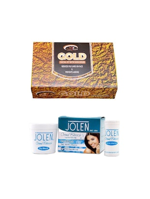 JOLEN Oxy Bleach Crme 35g and Pink Root Mix Fruit Facial Kit 83gm - 15030124 - Standard Image - 1