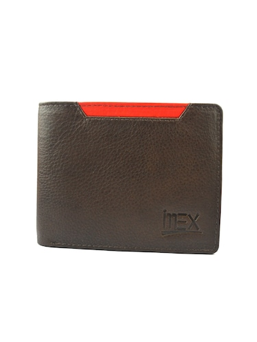 brown & red leather wallet - 15030490 - Standard Image - 1